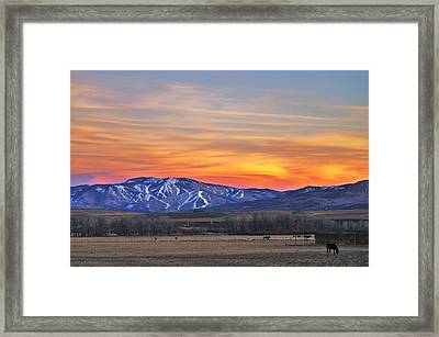 Steamboat Alpenglow Framed Print by Matt Helm