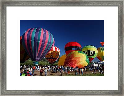 Steamboat Balloon Rising  Framed Print by Michael J Bauer