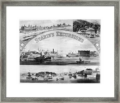 Steamboat Excursions, C1878 Framed Print by Granger