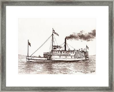 Steamboat Idaho Sepia  Framed Print by James Williamson