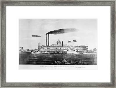 Steamboat 'mayflower Framed Print by Granger