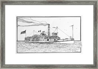 Steamboat Nantucket 1900 Framed Print by Ira Shander