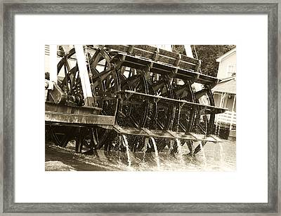 Steamboat Framed Print by Nicholas Evans