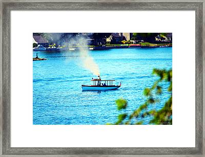 Steamboat On St. Lawrence River Framed Print by Timothy Thornton