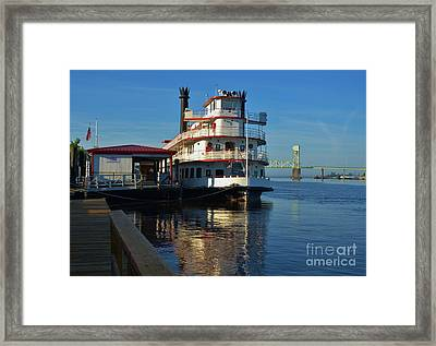 Steamboat Reflections Framed Print by Bob Sample