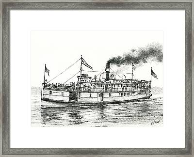 Steamboat Reliance Framed Print by James Williamson