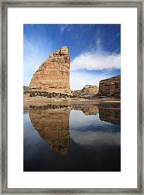 Steamboat Rock Face Framed Print
