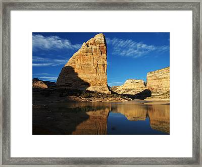 Steamboat Rock In Dinosaur National Monument Framed Print