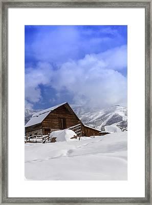 Steamboat Springs Barn History Framed Print by Teri Virbickis