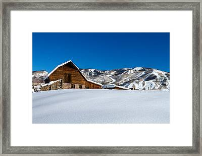 Steamboat Springs Barn Framed Print