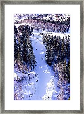 Steamboat Springs Colorado Ski Trail. Framed Print