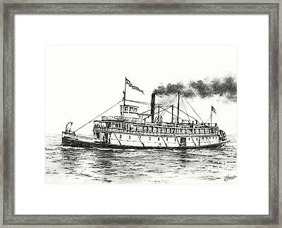 Steamboat State Of Washington Framed Print by James Williamson