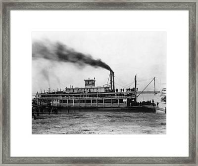 Steamboat Tarascon, C1870 Framed Print
