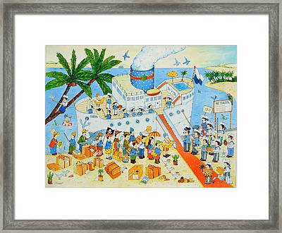 Steamer, 2003 Wc On Paper Framed Print by Christian Kaempf