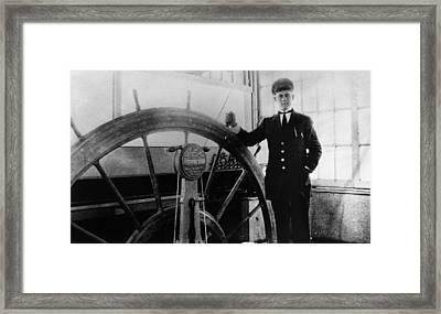 Steamer Captain, 1912 Framed Print by Granger