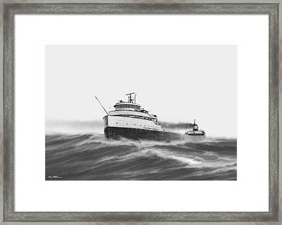 Steamer Courtney Burton Framed Print