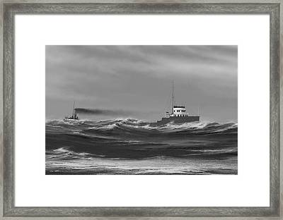 Steamer James Carruthers Framed Print by Captain Bud Robinson
