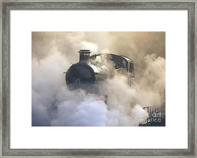 Steaming At Dawn No1 Framed Print