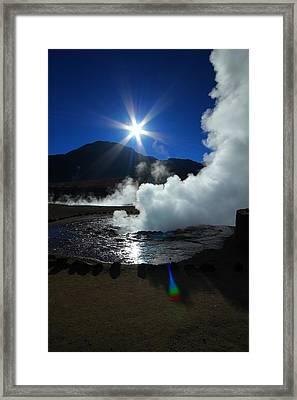 Steaming Desert Framed Print