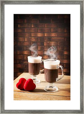 Steaming Hot Chocolates Framed Print