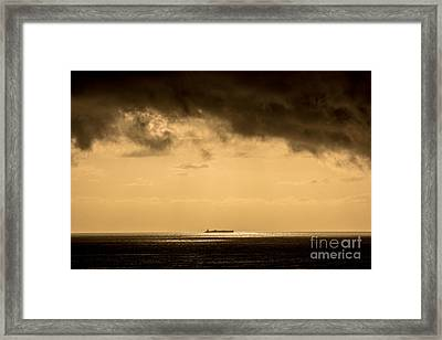 Steaming Thru The Sunrise Framed Print by Rene Triay Photography