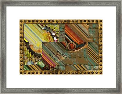 Steampunk Abstract Framed Print by Liane Wright