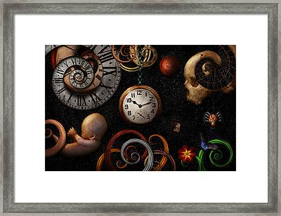 Steampunk - Abstract - The Beginning And End Framed Print by Mike Savad