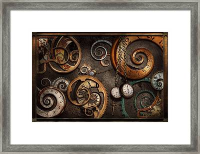 Steampunk - Abstract - Time Is Complicated Framed Print