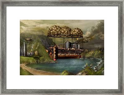 Steampunk - Airship - The Original Noah's Ark Framed Print