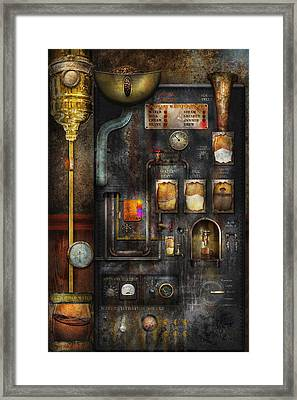 Steampunk - All That For A Cup Of Coffee Framed Print by Mike Savad
