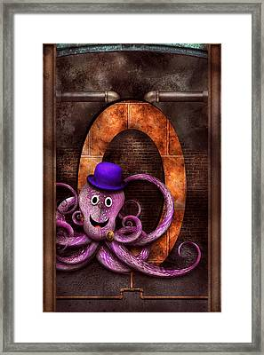 Steampunk - Alphabet - O Is For Octopus Framed Print