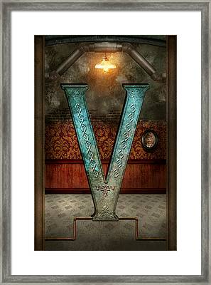 Steampunk - Alphabet - V Is For Victorian Framed Print by Mike Savad