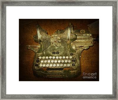 Steampunk Antique Typewriter Oliver Company Framed Print by Svetlana Novikova