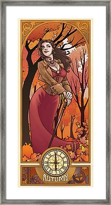 Steampunk Autumn Framed Print by Dani Kaulakis