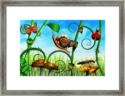 Steampunk - Bugs - Evolution Take Time Framed Print by Mike Savad