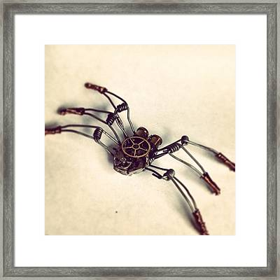 #steampunk #bugs More To Come Framed Print by Dana Forte
