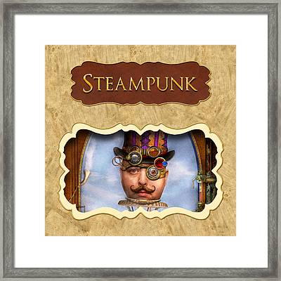 Steampunk Button Framed Print by Mike Savad