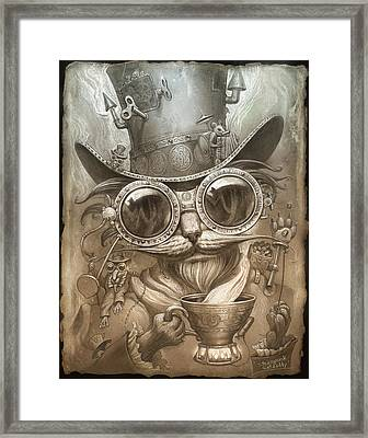 Steampunk Cat Framed Print by Jeff Haynie