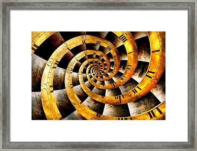 Steampunk - Clock - The Flow Of Time Framed Print by Mike Savad
