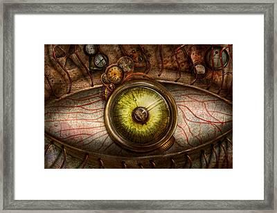 Steampunk - Creepy - Eye On Technology  Framed Print by Mike Savad