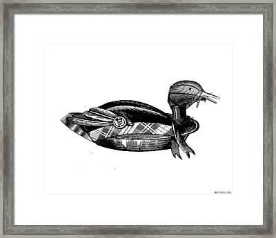 Steampunk Duck Framed Print by Eric Edelman