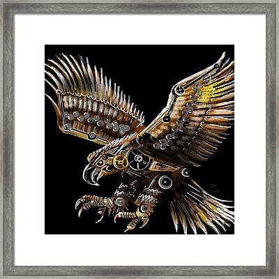 #steampunk #eagle #eagleds2 #bird Framed Print by David Burles