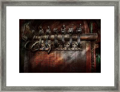 Steampunk - Electrical - Motorized  Framed Print