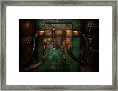 Steampunk - Electrical - Pull The Switch  Framed Print by Mike Savad
