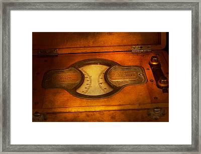 Steampunk - Electrician - The Portable Volt Meter Framed Print by Mike Savad