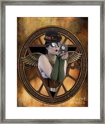 Steampunk Fairy Framed Print by Juli Scalzi
