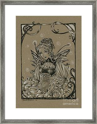 Steampunk Fairy Framed Print by Meredith Dillman
