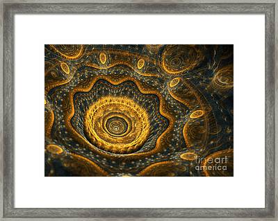 Steampunk Flower Framed Print by Martin Capek