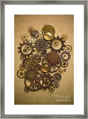 Steampunk Gears Framed Print by Diane Diederich