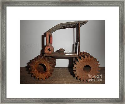 Steampunk Gears Framed Print by Michael Sauro